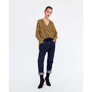 Zara | Striped Flowing Shirt